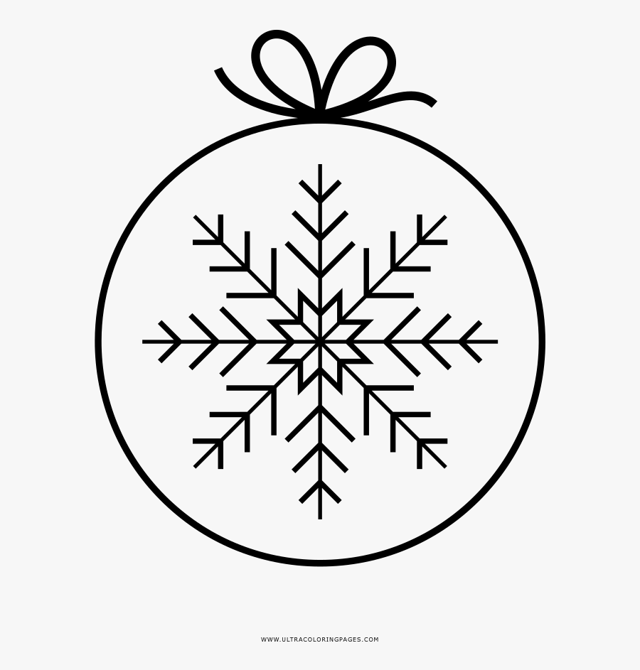 Coloring Sheets Coloring Sheets Christmas Ornament - Small And Easy Snowflake To Trace With Pensol, Transparent Clipart