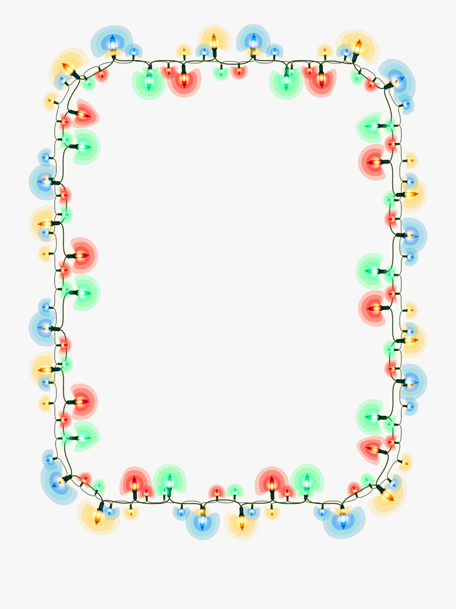 Light-emitting Diode Christmas Lights Clip Art - Bingkai Bunga Png Vector, Transparent Clipart