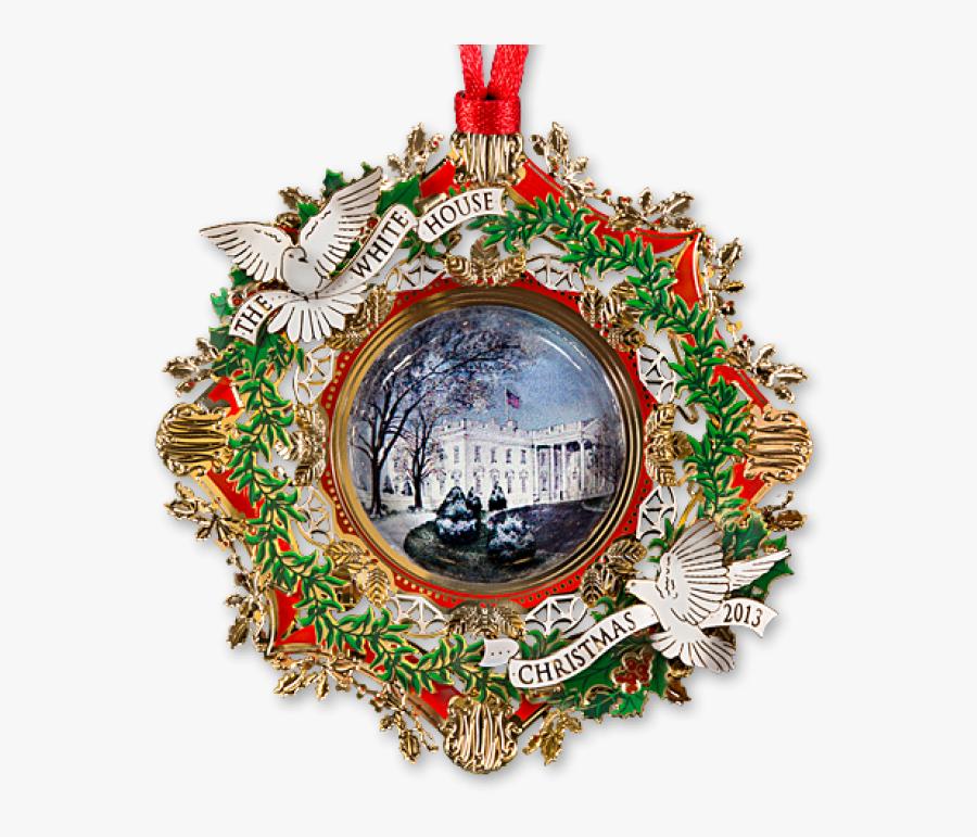 2013 White House Christmas Ornament, Transparent Clipart