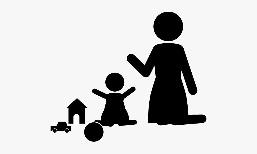 Babysitting Clipart Black And White, Transparent Clipart