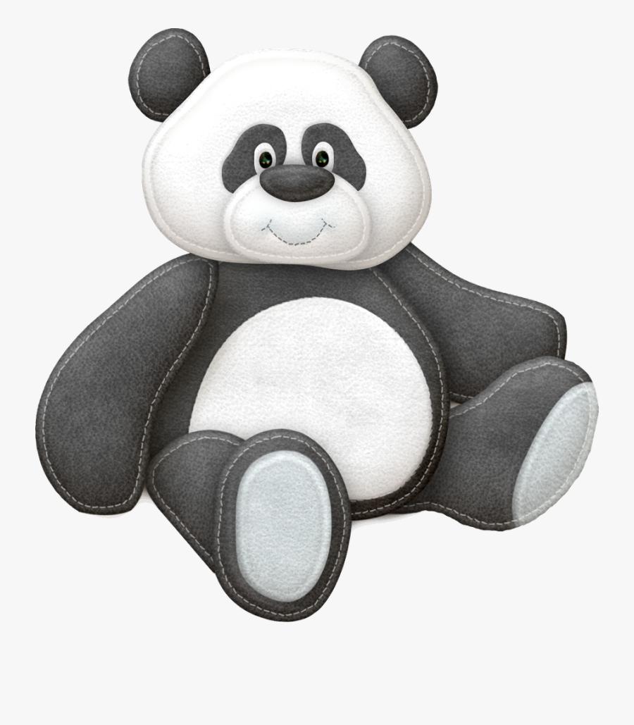 Sweet Baby Animals Clip Art - Giant Panda, Transparent Clipart