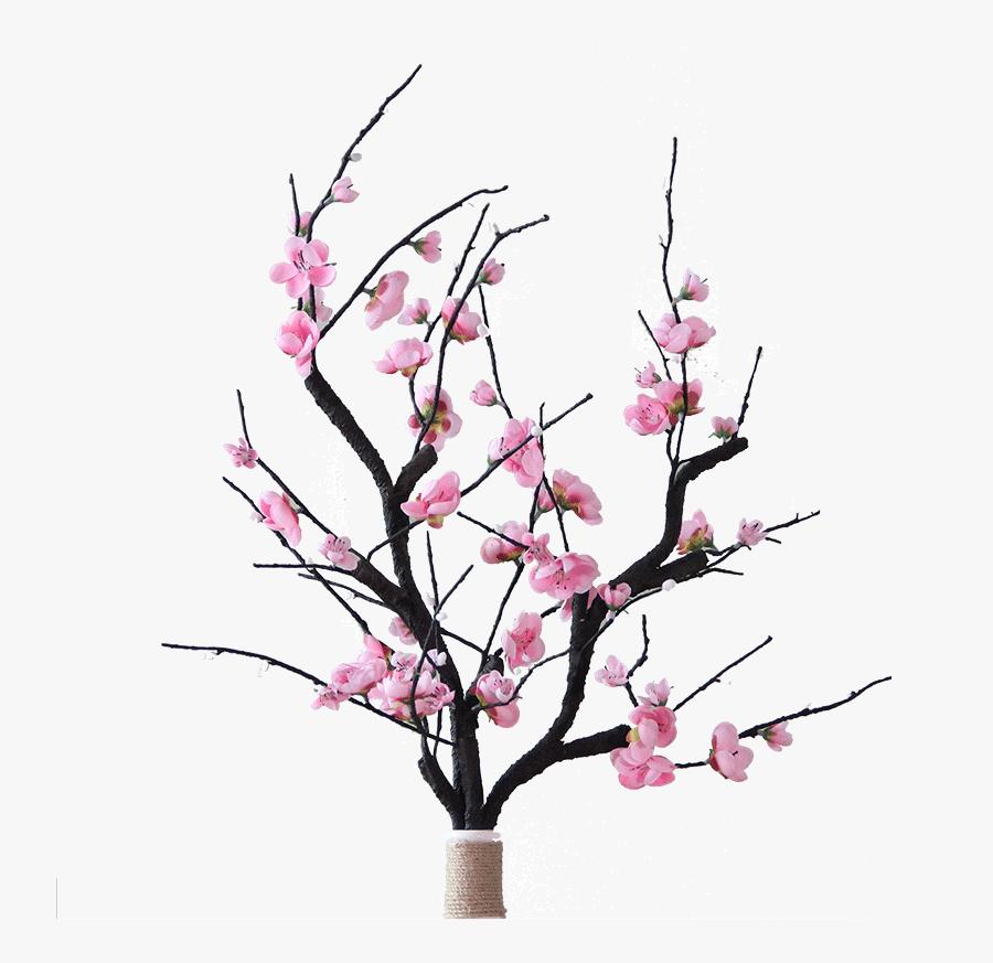 Transparent Peach Flowers Png - Flower Arrangements In Dry Branches, Transparent Clipart