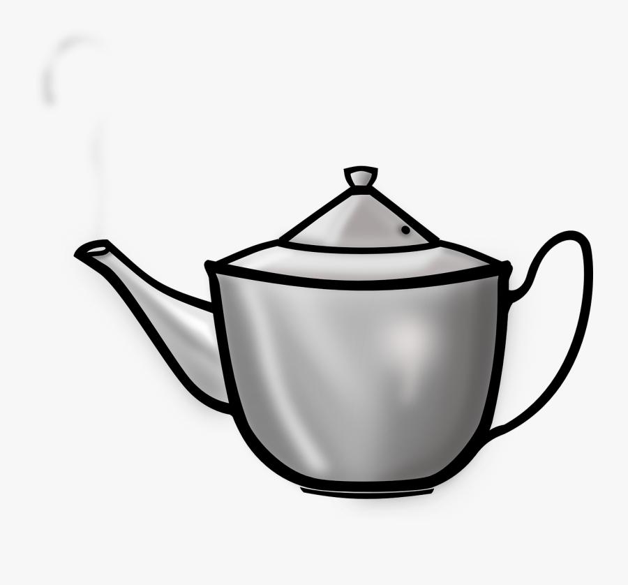 Teapot Kettle Steamer Free Picture - Tea Pot Clip Art, Transparent Clipart