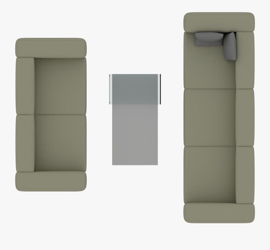 Transparent Sofa Clipart - Furniture Top View Png, Transparent Clipart