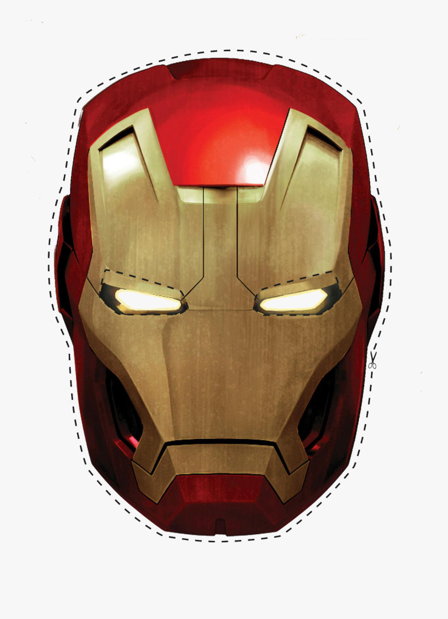 Free Printable Iron Man Mask - Free Printable Iron Man Cake Topper Printable, Transparent Clipart