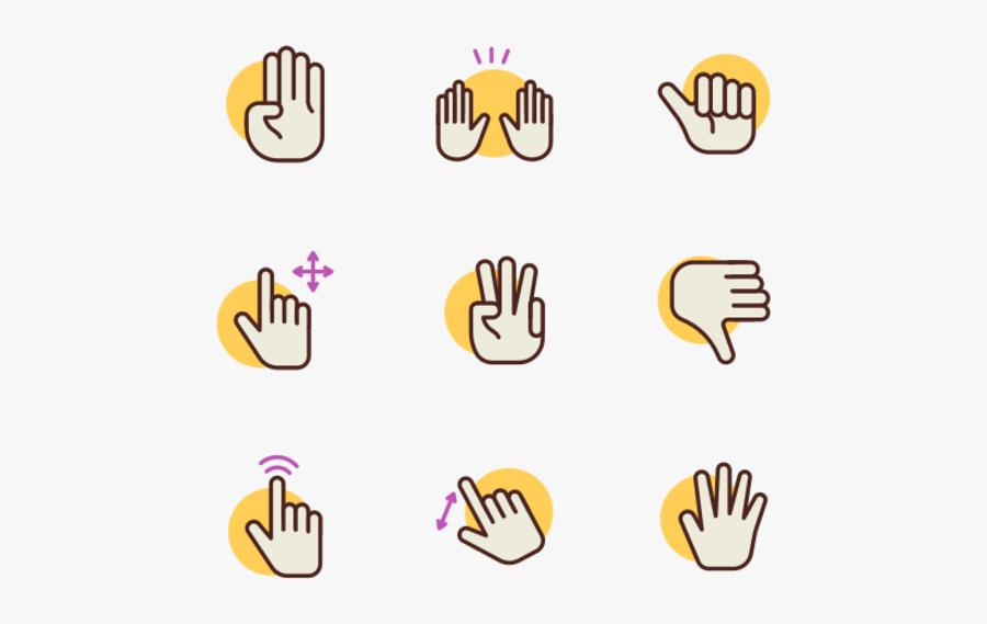 Hand Gestures, Transparent Clipart