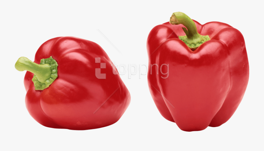 Bell Pepper Png - Red Colour Vegetables Name, Transparent Clipart