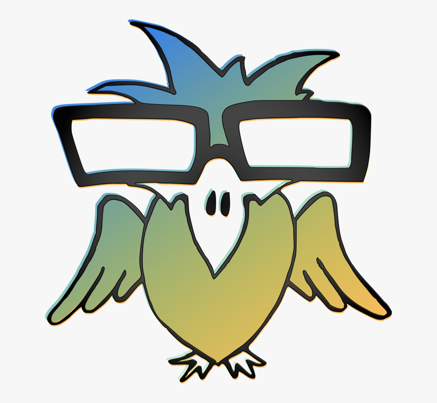 Wing,beak,tree - Birds With Glasses, Transparent Clipart