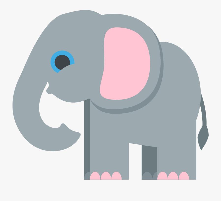 Transparent Animals Cliparts - Elephant Emoji, Transparent Clipart