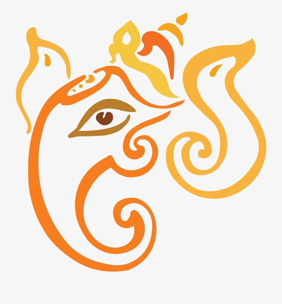 Transparent Ganesh Png - Lord Ganesh Line Art, Transparent Clipart