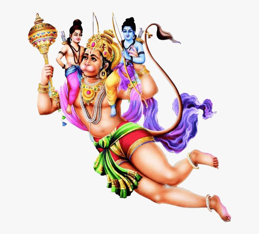 Download Hanuman Png File 262 - Hanuman Carrying Ram And Lakshman, Transparent Clipart