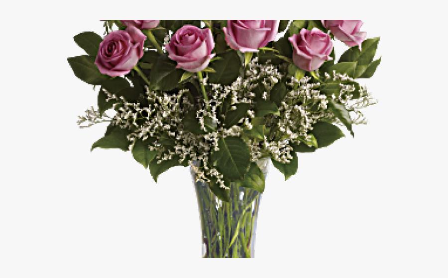 Transparent Clipart Flower Arrangements - Flowers With Roses, Transparent Clipart