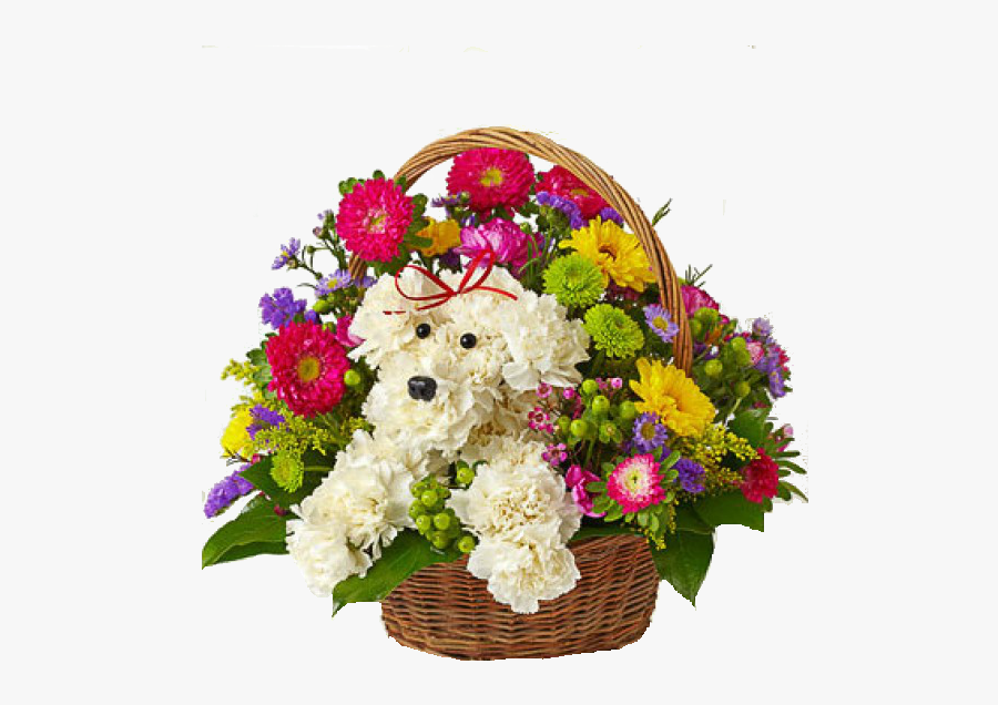Birthday Flowers Bouquet Png Transparent Image - Dog Bouquet Flowers, Transparent Clipart