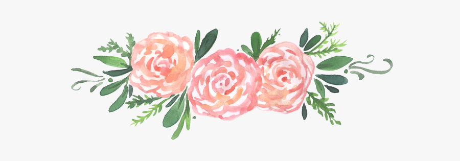 Pink,rose,flower,rose Family,plant,garden Roses,cut - Transparent Background Flowers Watercolor Png, Transparent Clipart