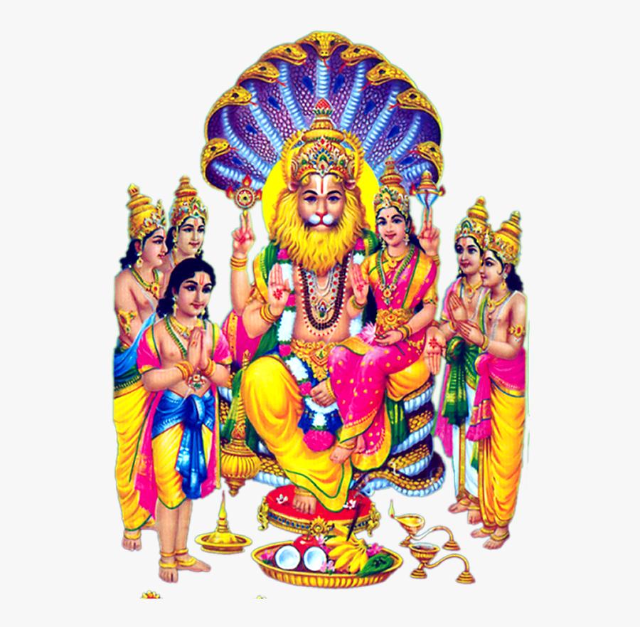 Lakshmi Narasimha Lord Png - Sri Lakshmi Narasimha Swamy Hd, Transparent Clipart