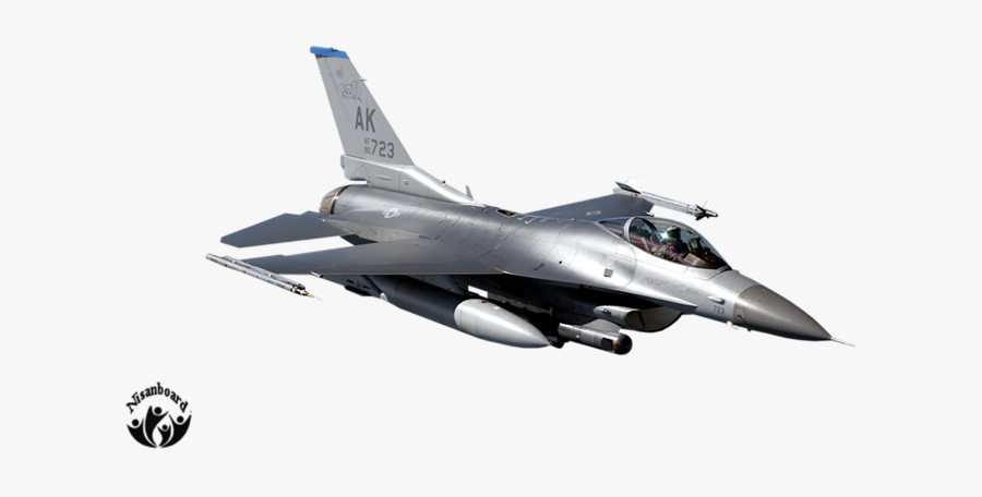 Airplane Clipart Flying - F 16 Fighting Falcon, Transparent Clipart