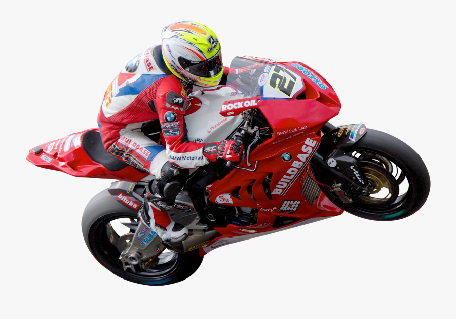 Motorbike Png Image - Man In Motorcycle Png, Transparent Clipart