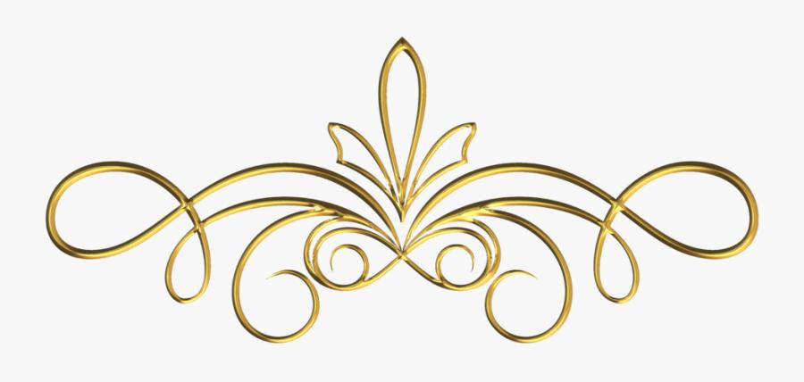Gold Divider Png - Gold Swirl Border Design Png, Transparent Clipart