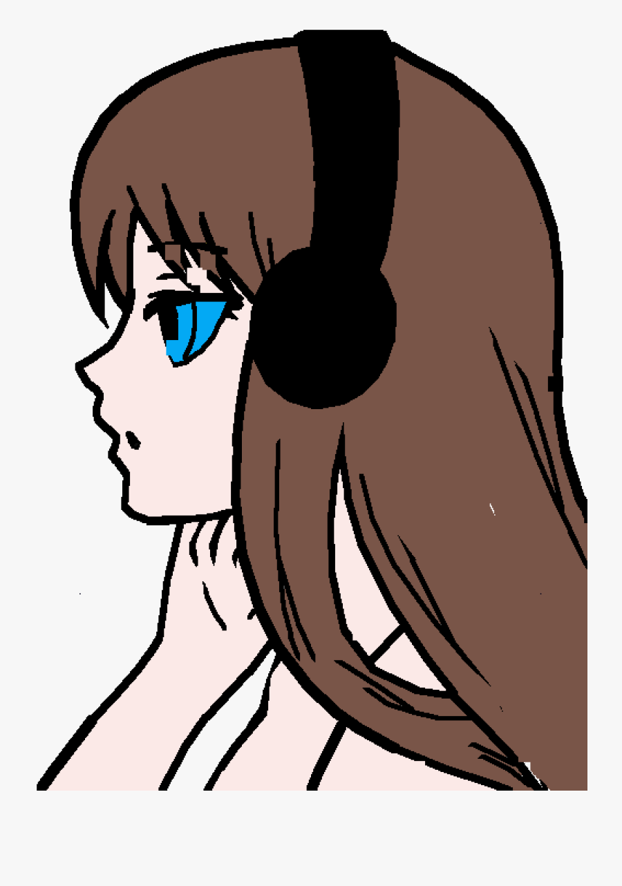 Anime Girl Easy Drawing, Transparent Clipart
