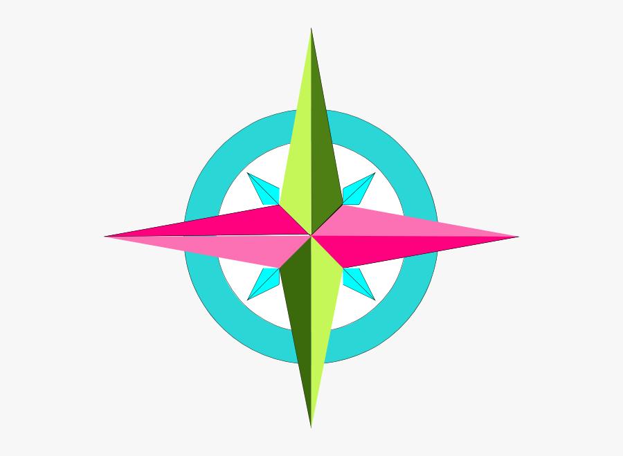 Colorful Compass Clipart - Colorful Compass Clip Art, Transparent Clipart