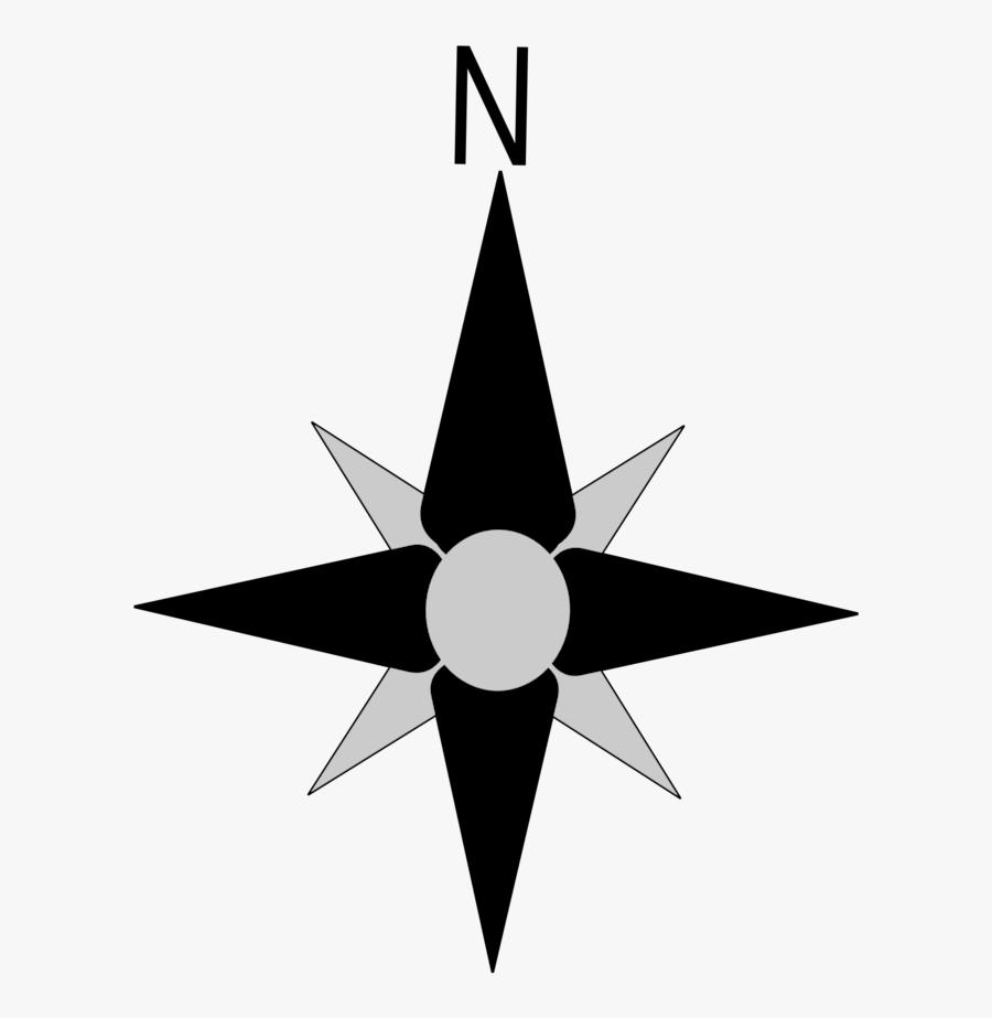 Transparent Background Compass North, Transparent Clipart