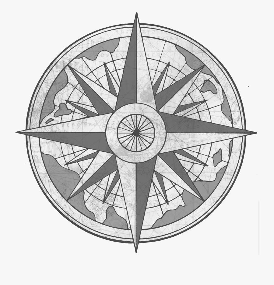 Transparent Compass - Vintage Compass Rose Png, Transparent Clipart
