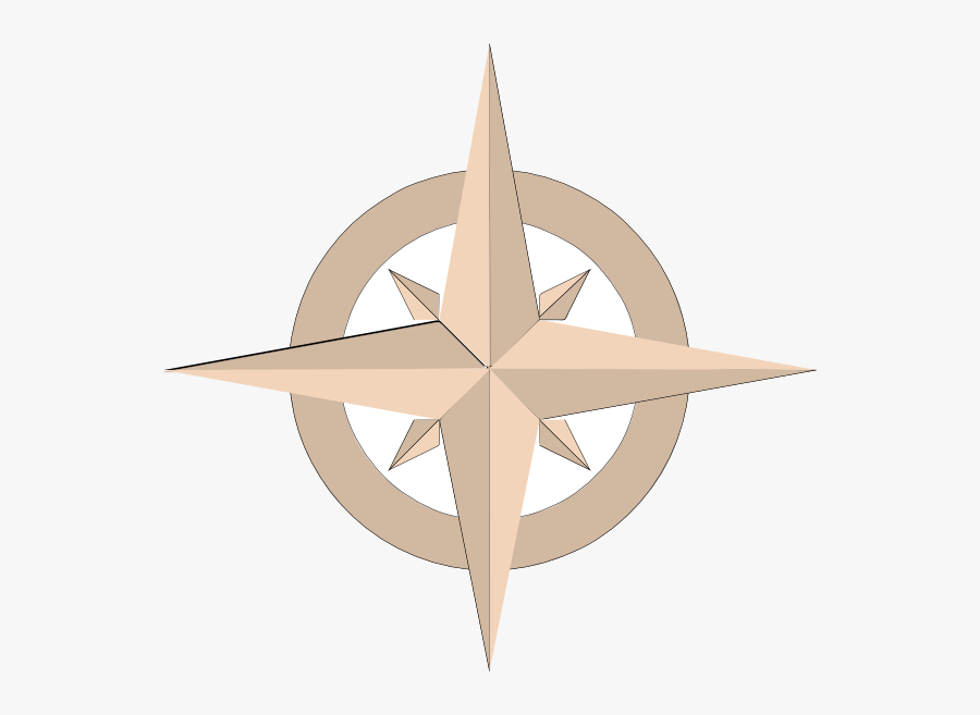 North And South Compass Rose, Transparent Clipart