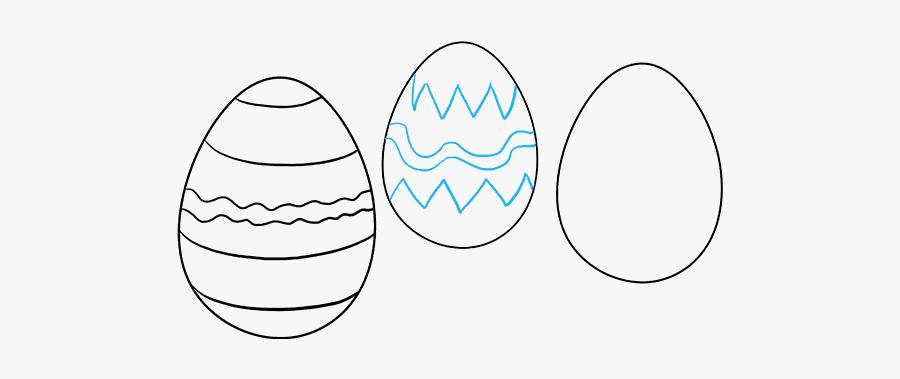 How To Draw Easter Eggs - Easter Eggs How To Draw, Transparent Clipart
