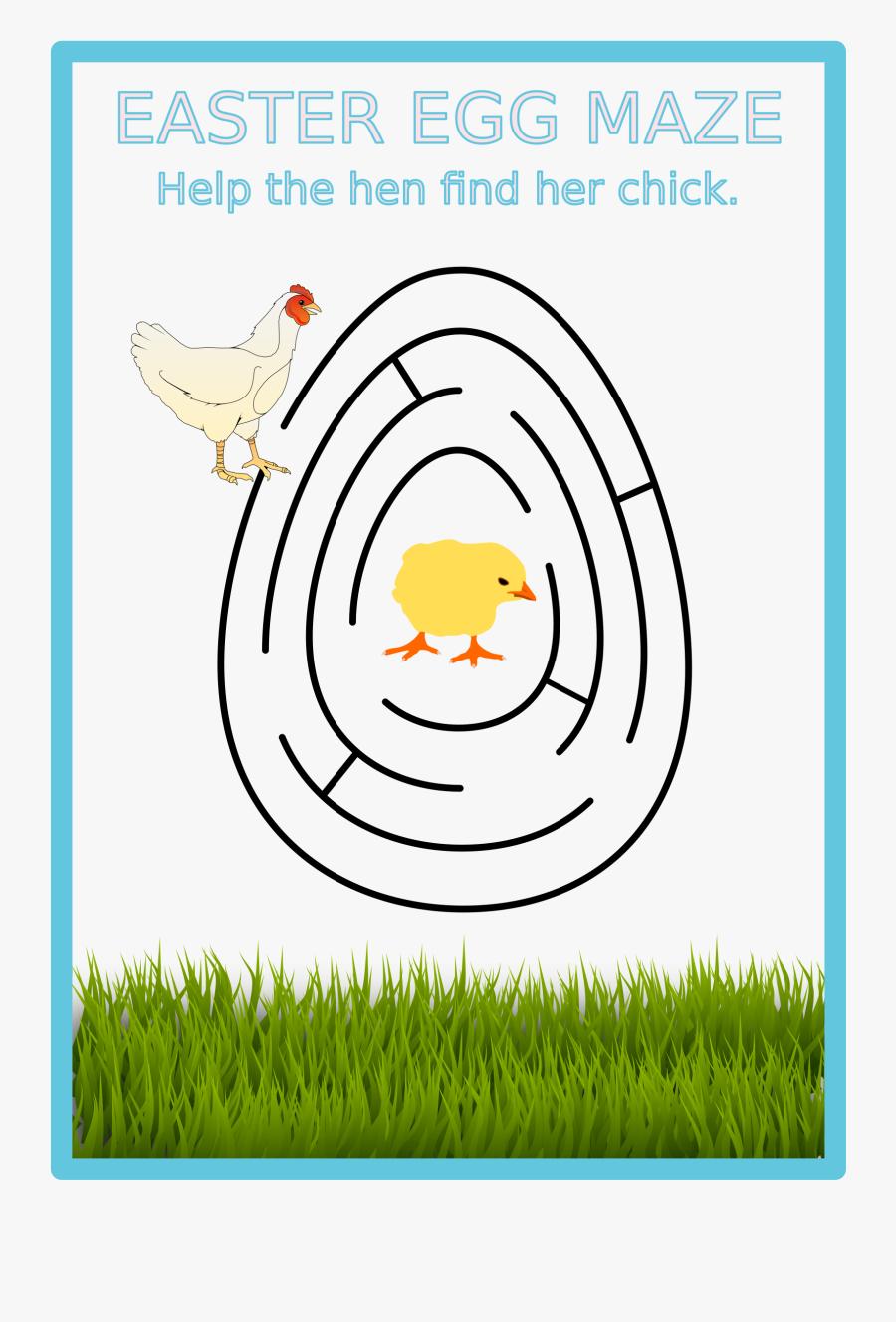 Easter Egg Maze Clip Arts - Afl Football Field Template, Transparent Clipart