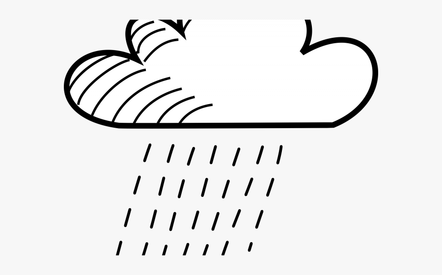 Rain Clipart Drawing - Rain Drawing Black And White, Transparent Clipart