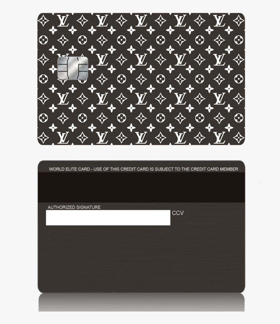 Louis Vuitton Inspired Black Metal Credit Debit Card - Louis Vuitton Credit Card Sticker, Transparent Clipart