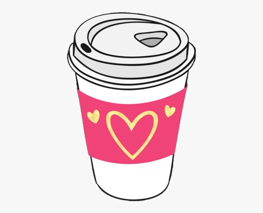 #coffee #cup #coffeecup #heart #hearts #pink #daddybrad80 - Clip Art Coffee Cup With Heart, Transparent Clipart