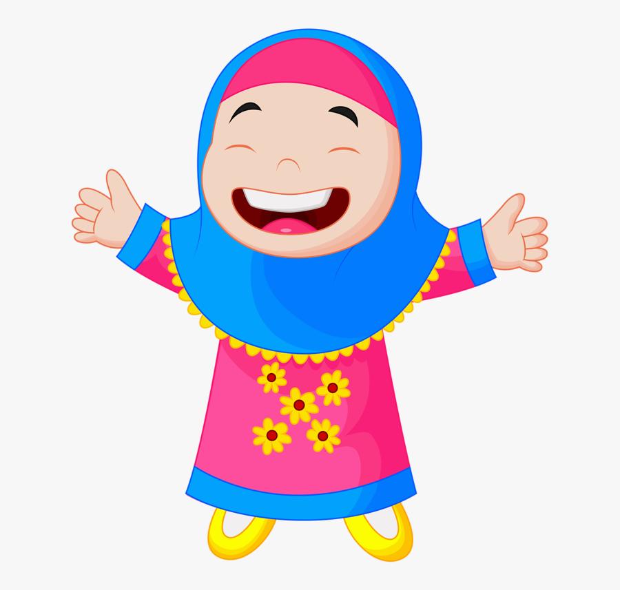 Transparent Quran Clipart - Muslim Kids Cartoon, Transparent Clipart