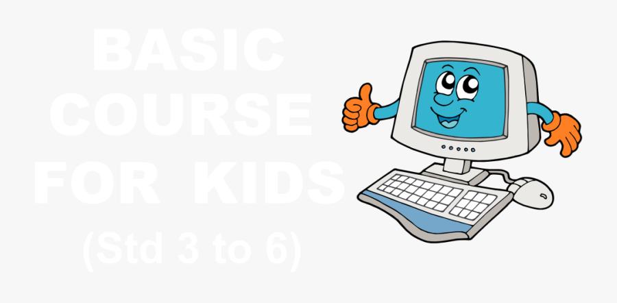 Transparent Kid On Computer Clipart - Happy Computer, Transparent Clipart