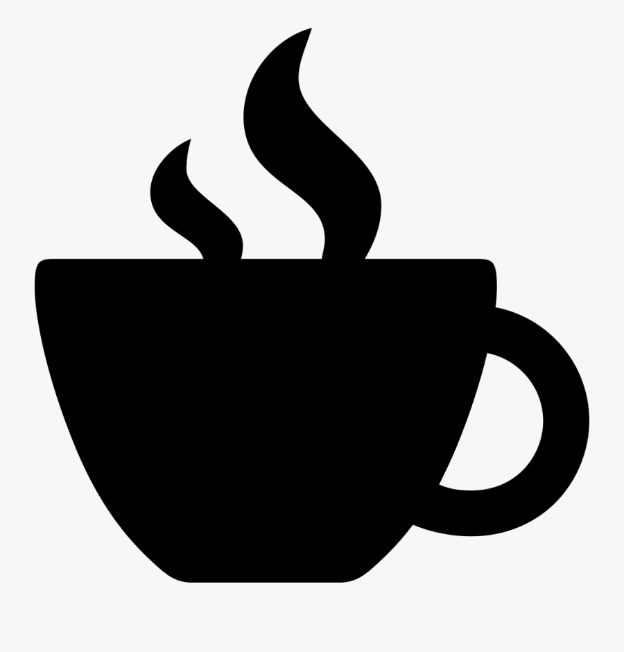Svg Silhouette Coffee Cup Image Black And White Library - Silhouette Coffee Mug Svg, Transparent Clipart