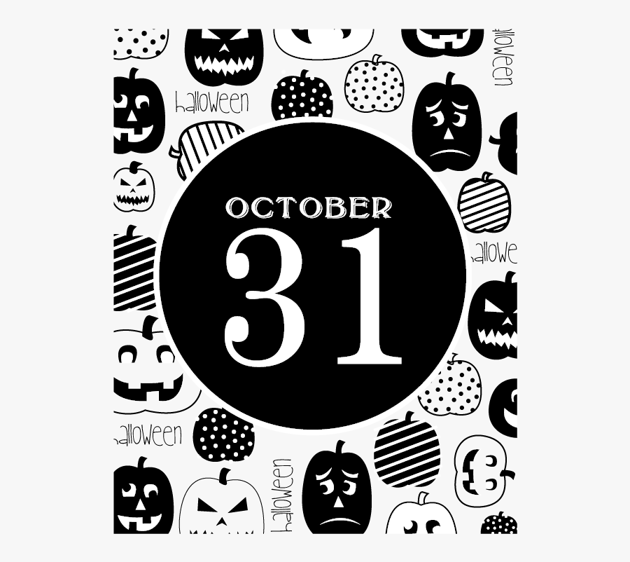 October-31 - Poster, Transparent Clipart
