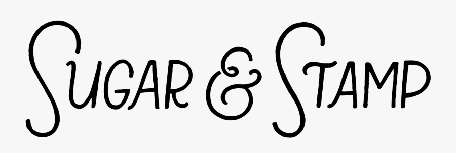Sugar & Stamp Header - Calligraphy, Transparent Clipart