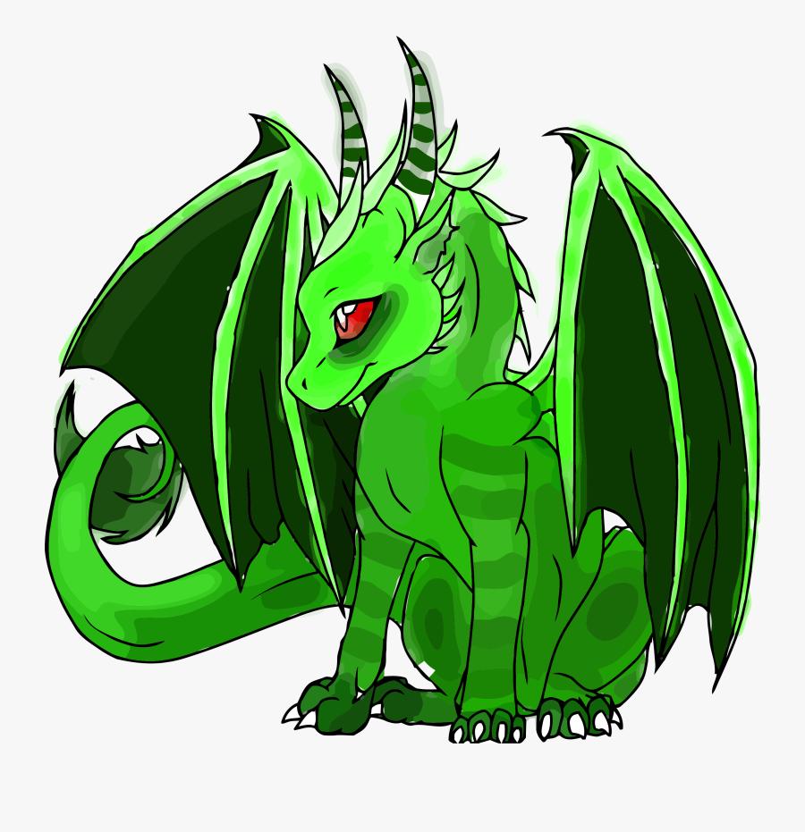 Transparent Dragon Clipart Png - Cute Baby Green Dragon, Transparent Clipart
