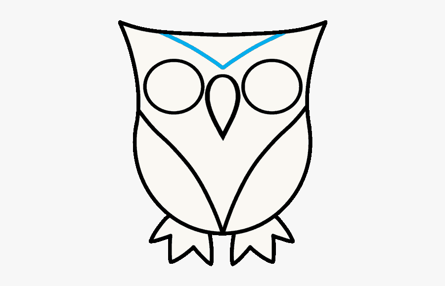 How To Draw Owl - Owl Drawing Easy Cute, Transparent Clipart