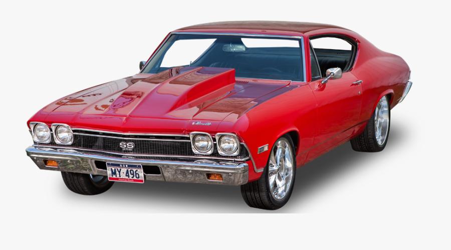 Land Vehicle,muscle Car,hardtop,chevrolet Chevelle,full-size - Muscle Car Transparent Png, Transparent Clipart
