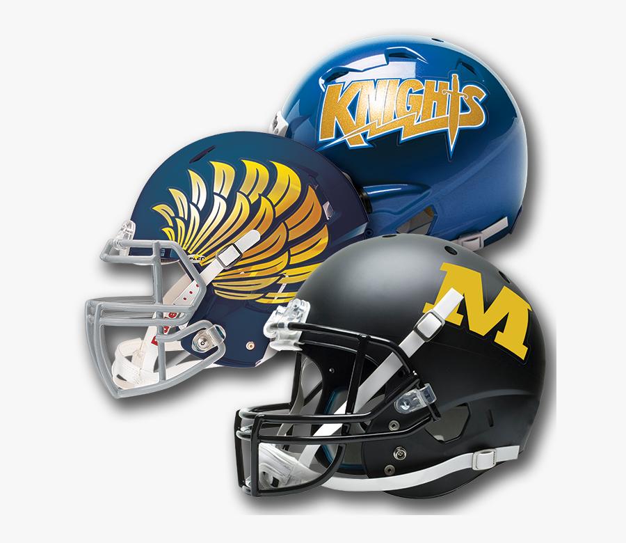 Full Headdress Football Helmet Matte, Chrome & Metalflake - Sword Football Helmet Logo, Transparent Clipart