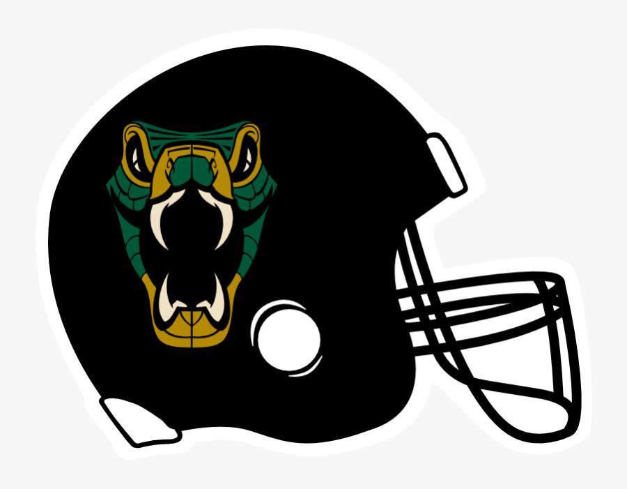 Snakes Football Helmet Decal - Black Football Helmet Clipart, Transparent Clipart
