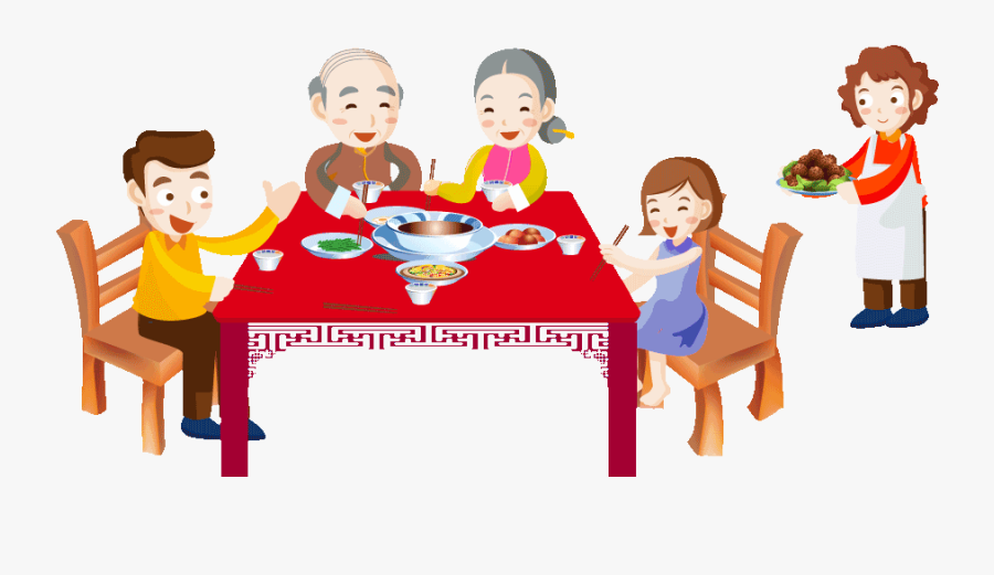 Transparent Eating Lunch Clipart Dessin Repas De Famille Free Transparent Clipart Clipartkey