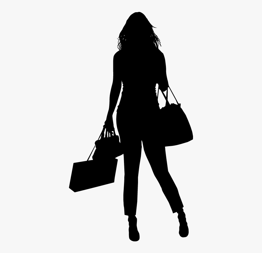 Silhouette Shopping Bags & Trolleys Fashion Shopping - Black Shopping Fashion Illustration, Transparent Clipart