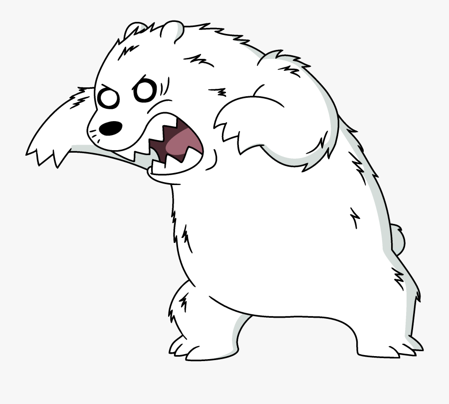 Mad Clipart Polar Bear - Ice Bear We Bare Bears Primal, Transparent Clipart