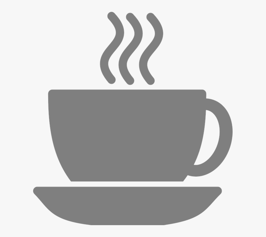 Cup, Coffee Cup, Steaming, Hot, Drink, Beverage, Saucer - Blue Coffee Cup Icon, Transparent Clipart