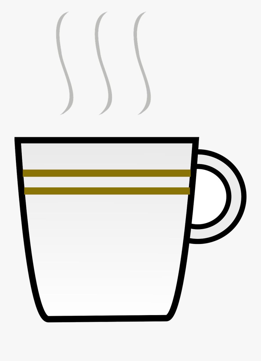 Transparent Steaming Coffee Mug Clipart - Coffee Cup Clip Art, Transparent Clipart