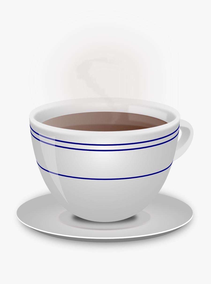 Cup, Coffee, Beverage, Ceramic, Hot, Mug, Saucer, Steam - Hot Beverage Png, Transparent Clipart