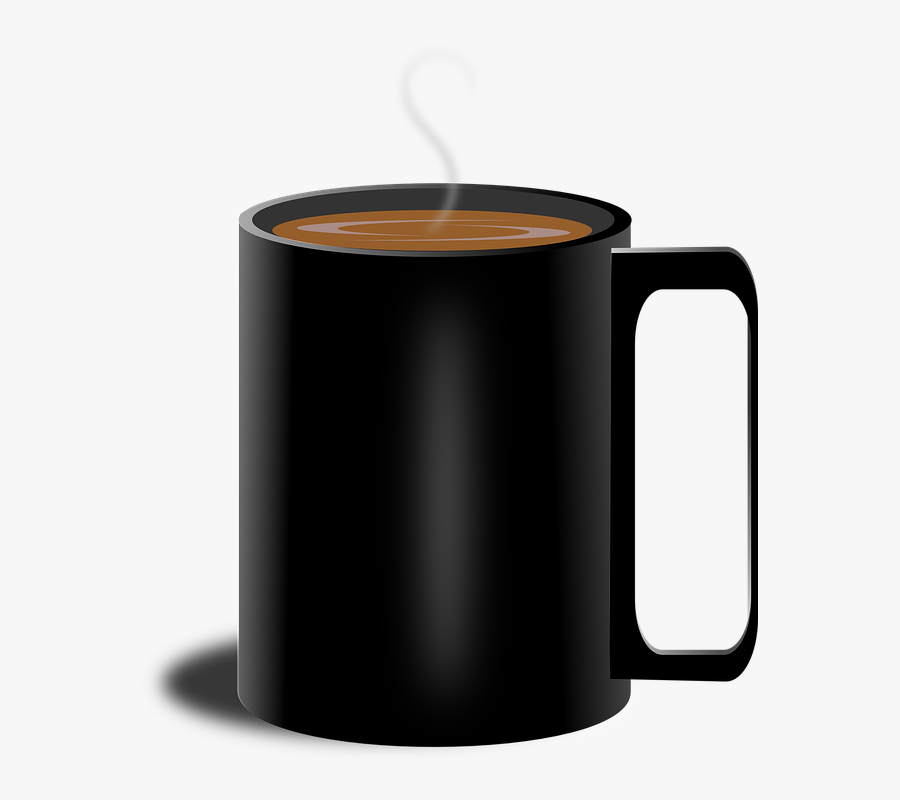 Coffee, Cup, Black, Steam, Ho - Steaming Mug Of Coffee, Transparent Clipart