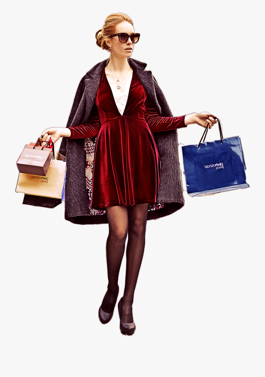 Download Free Png Lady Shopping Shopping Girl Fashion - Fashion Shopping Girl Png, Transparent Clipart